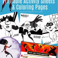 Disney-Pixar Incredibles 2 Printable Activities & Coloring Pages