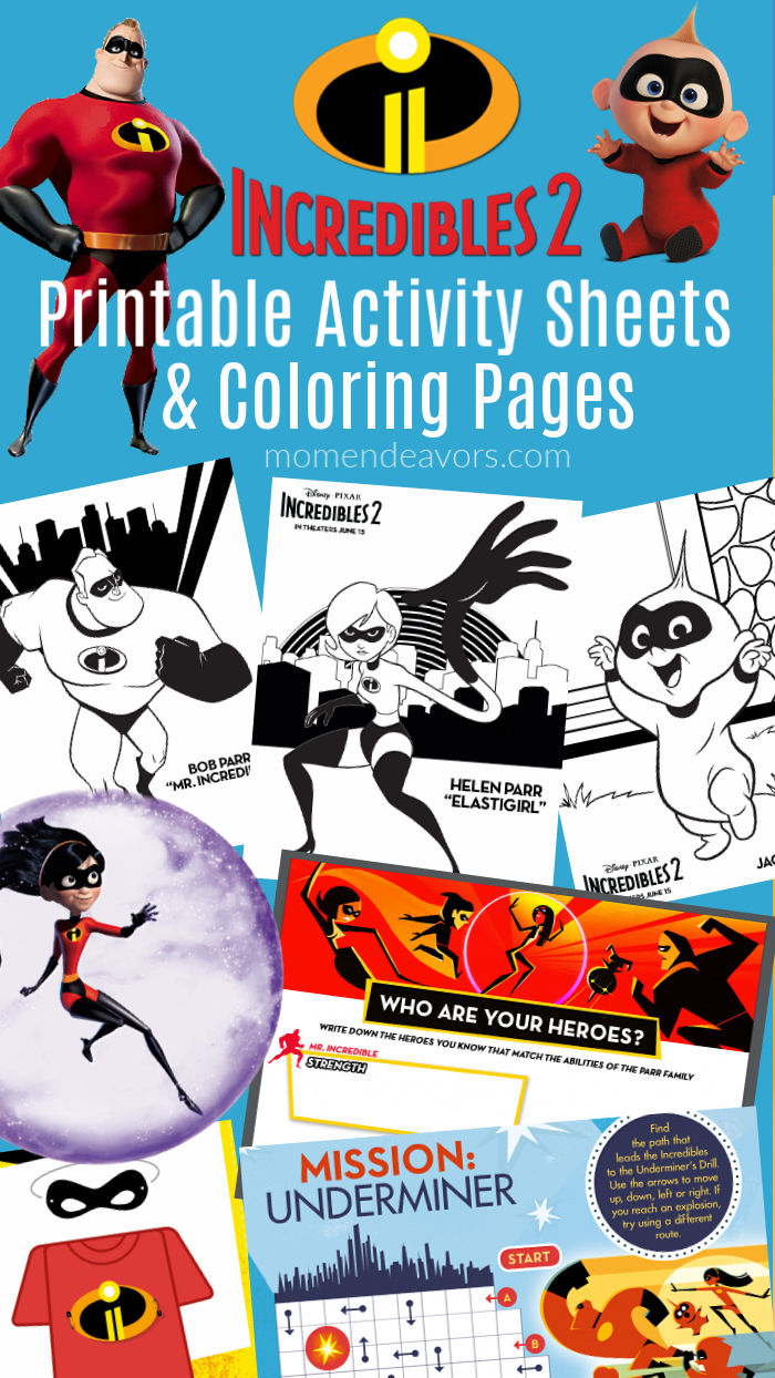 Disney Pixar Incredibles 2 Coloring Pages