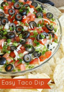 Easy No-Bake Taco Dip