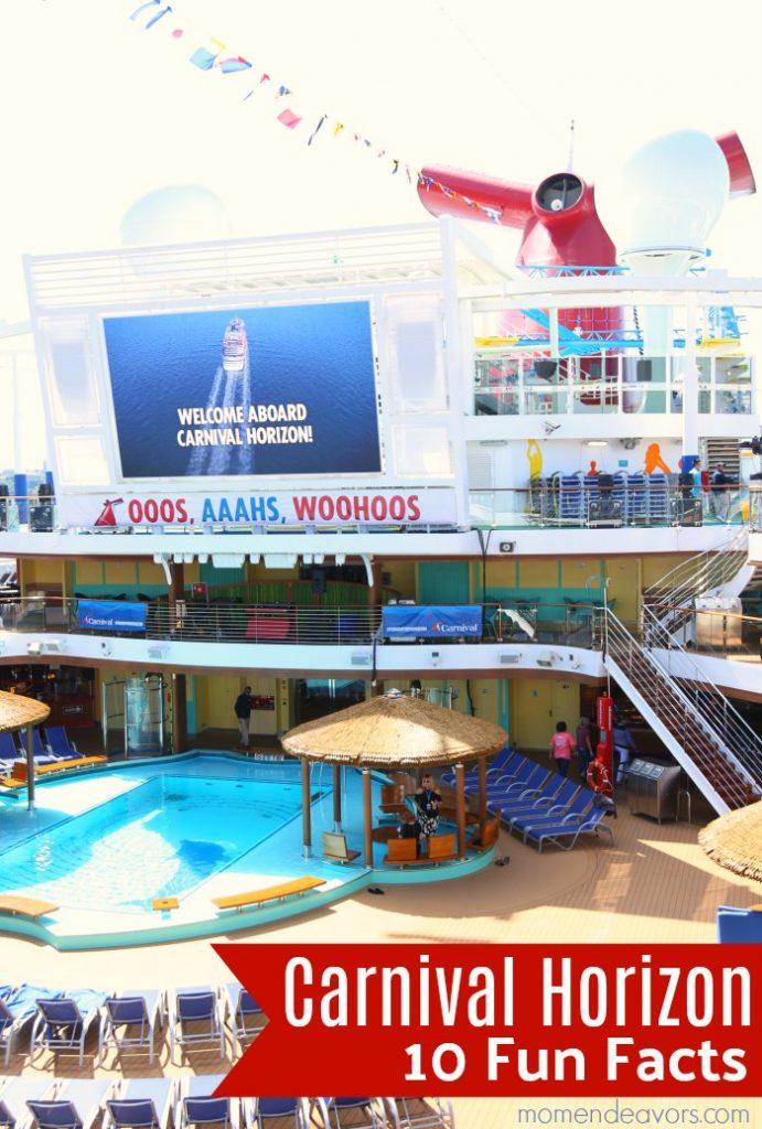 Carnival Horizon Ship Fun Facts