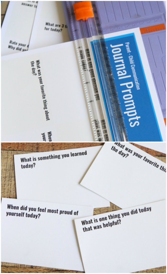 Parent Child Journal Prompts