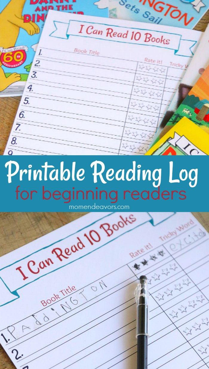 Printable Early Reader Reading Chart