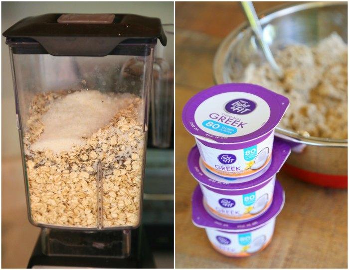 Making Yogurt Oat Muffins