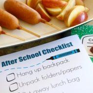 Printable After School Checklist