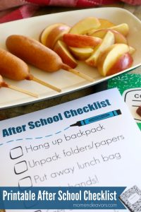 Printable After School Checklist