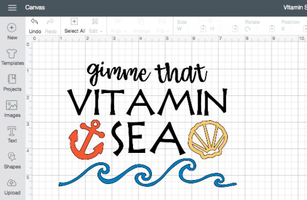 Vitamin Sea Cut File