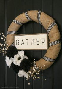 Black Front Door Wreath
