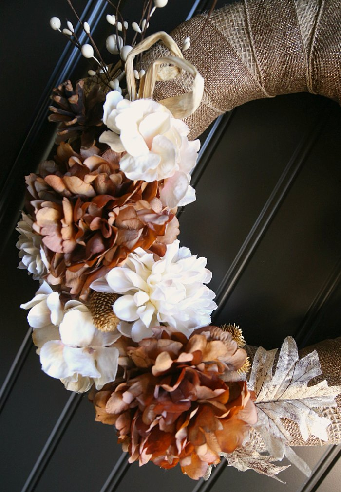 DIY Fall Floral Front Door Wreath