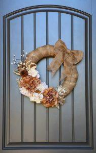 DIY Floral Fall Wreath