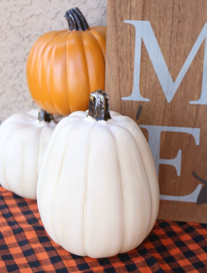 Fall Faux Pumpkins