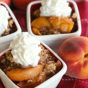 Slow Cooker Peach Crisp Gluten Free