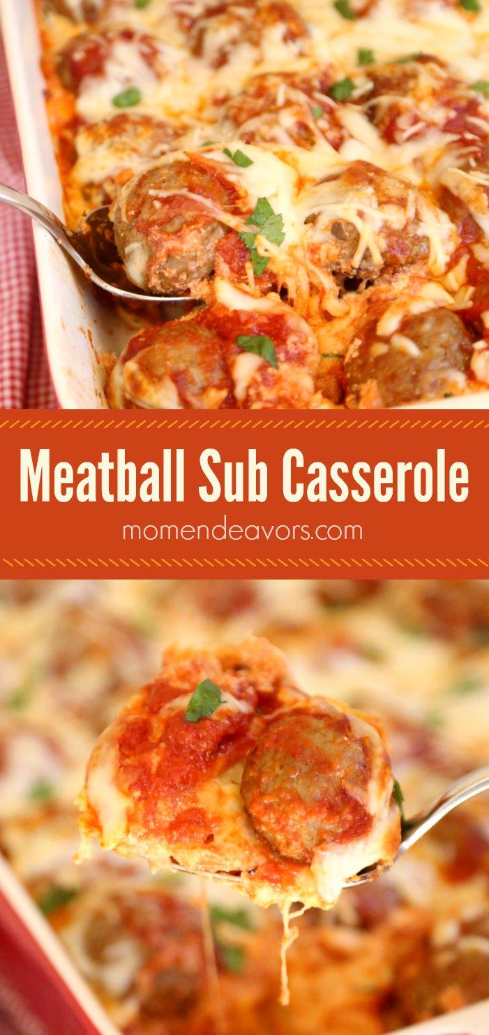 Delicious Meatball Sub Casserole Recipe