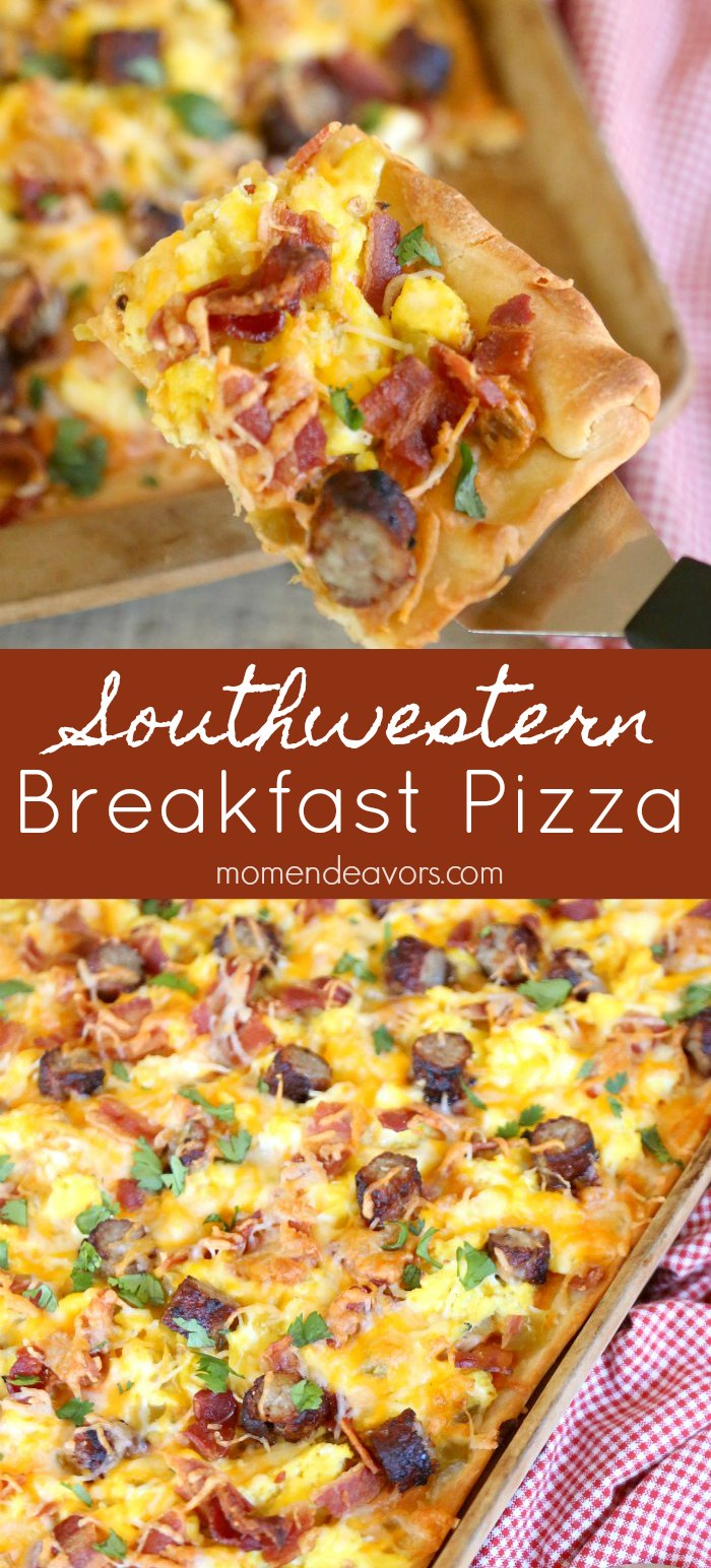 Delicious Southwestern Breakfast Pizza
