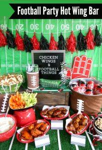 Football Party Hot Wing Bar