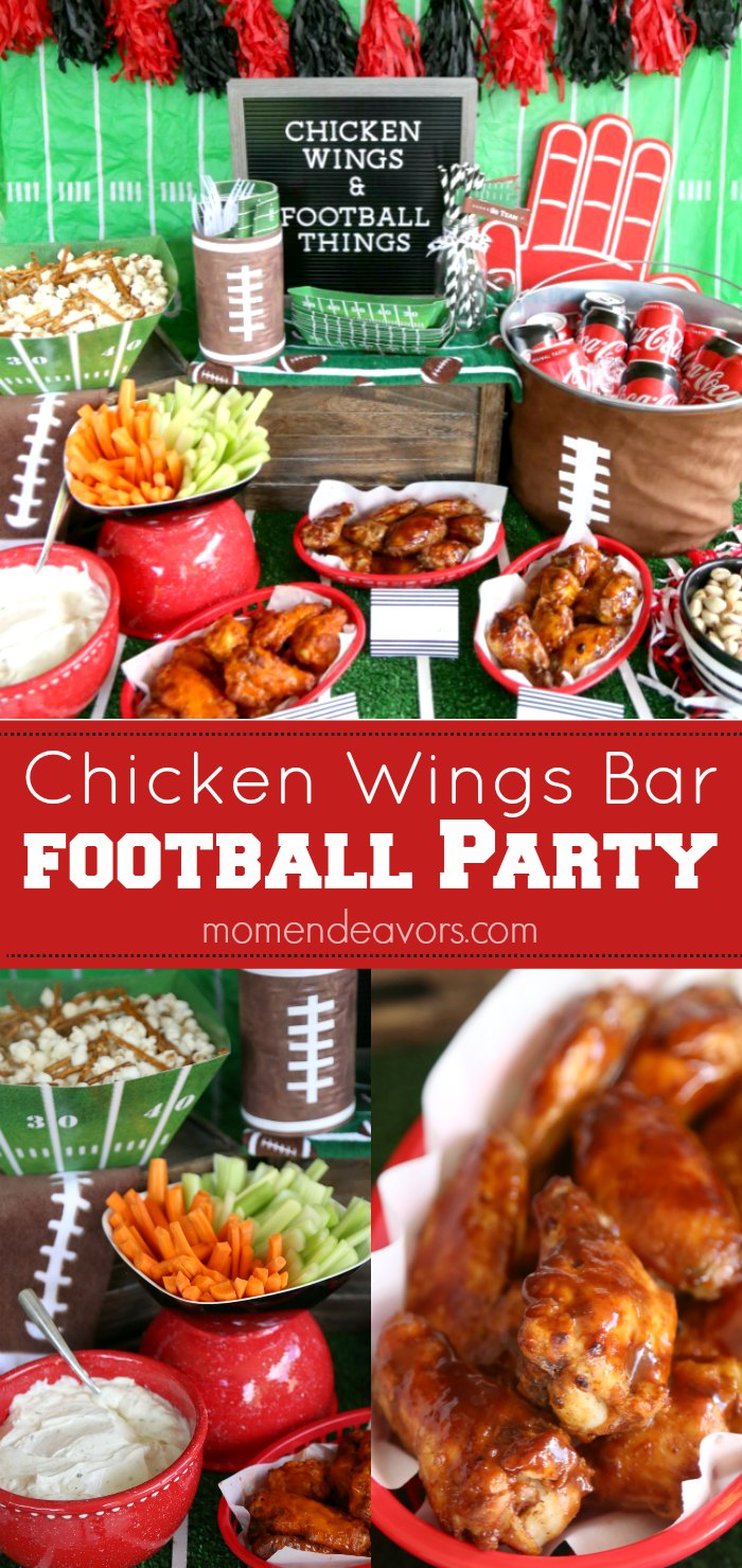 Hot Wings Bar Football Party