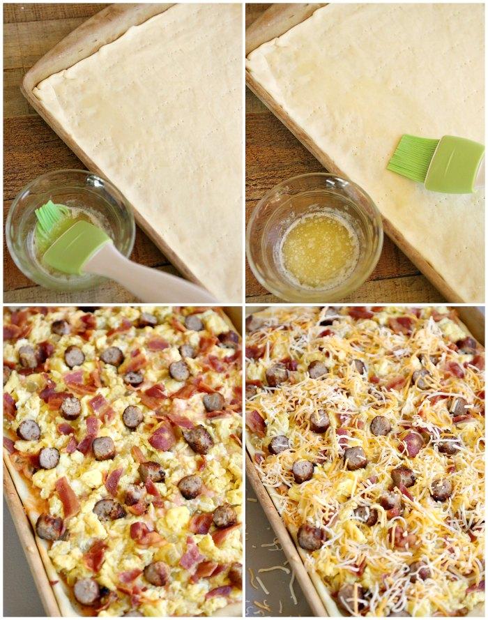 Making Breakfast Pizza