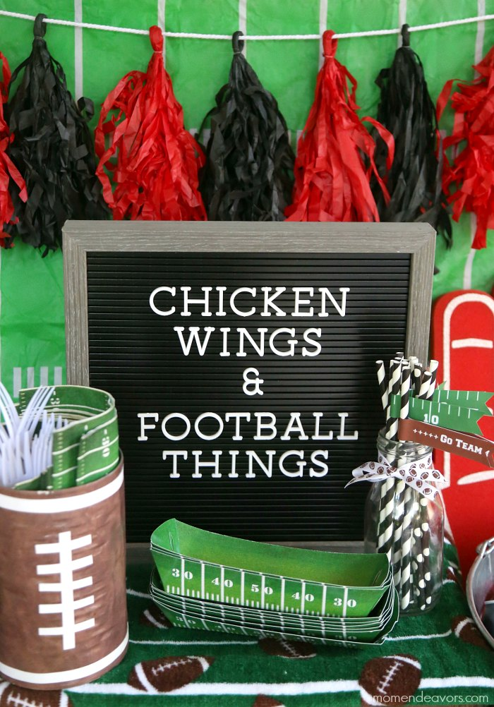 Simple Football Party Decor