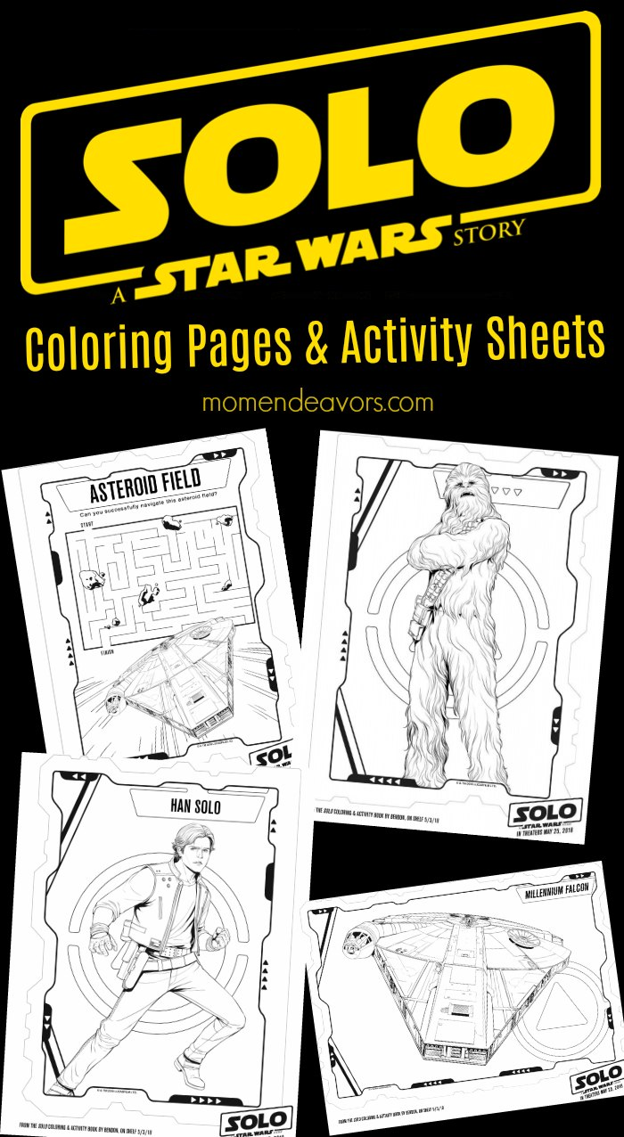 Star Wars Solo Coloring Pages Activity Sheets