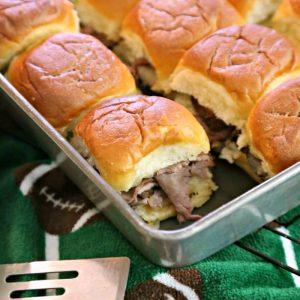 Cheesy Roast Beef Sliders