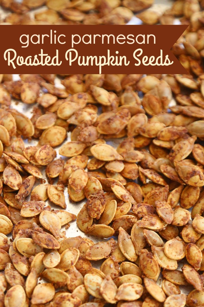 Garlic Parmesan Pumpkin Seeds