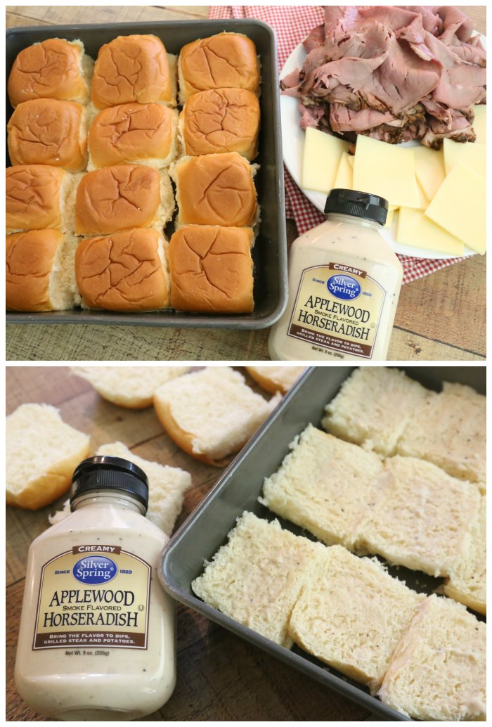 Making Roast Beef Sliders