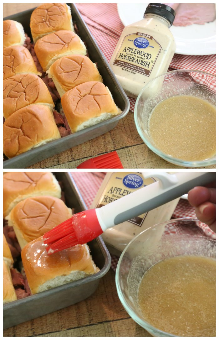 Roast Beef Sliders with Sauce