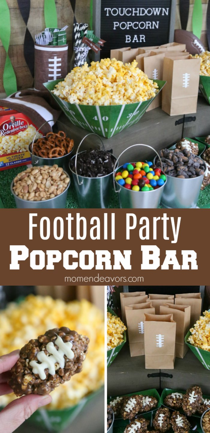 Football Party Popcorn Bar Idea