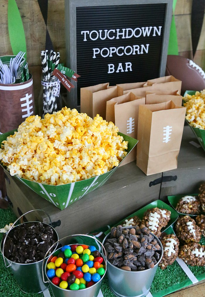 Football Party Popcorn Bar