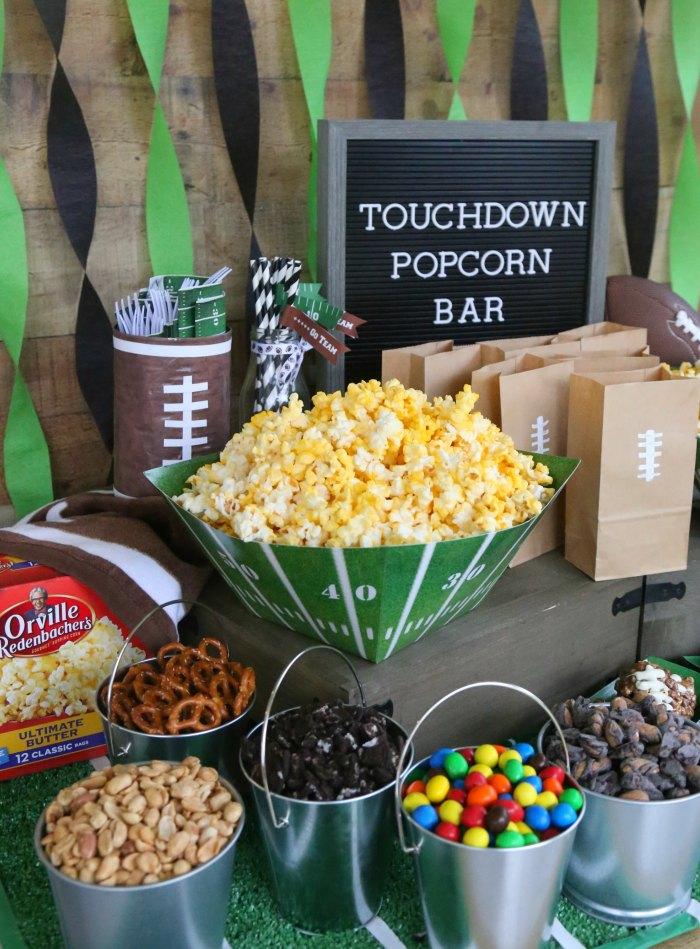 Football Party Popcorn