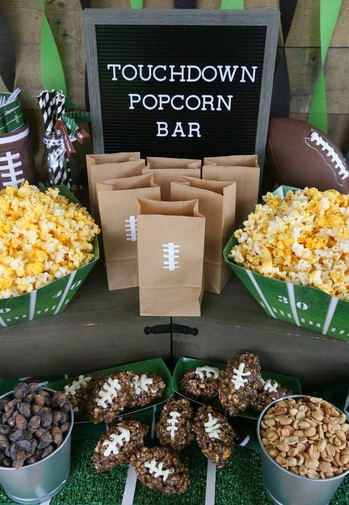 Football Popcorn Bar