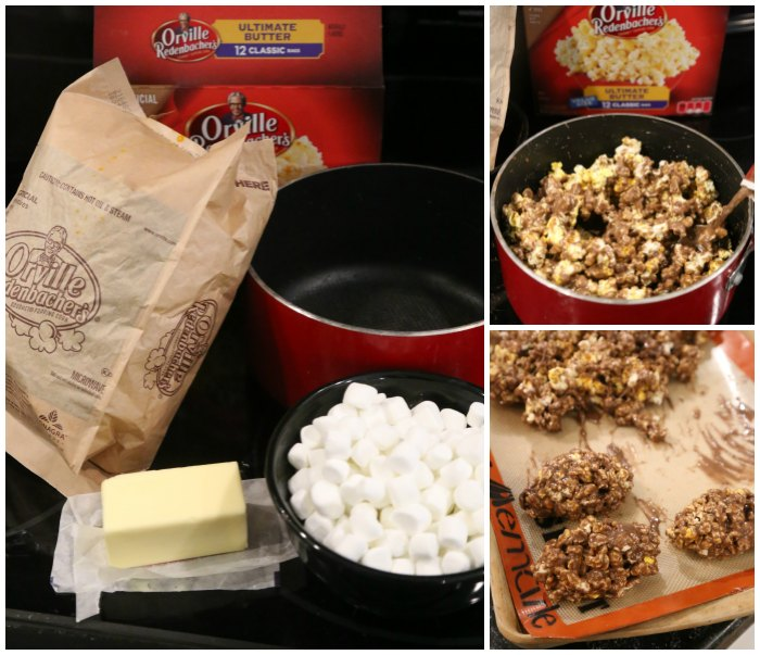 Making Marshmallow Popcorn Balls