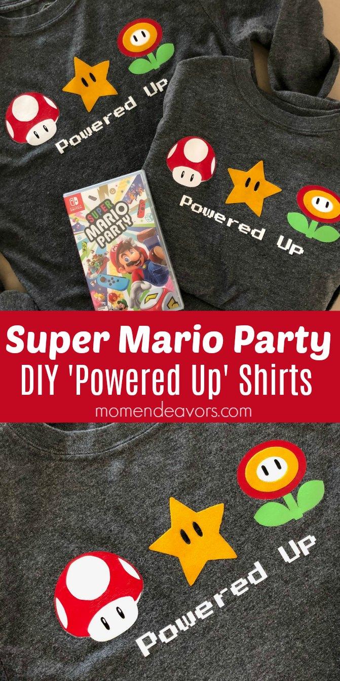 Super Mario Party DIY Shirts