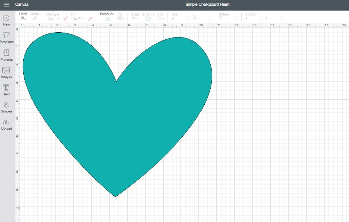 Cricut Design Space Heart