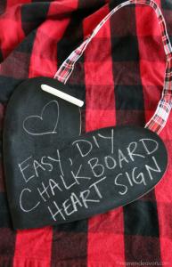 DIY Chalkboard Heart Sign