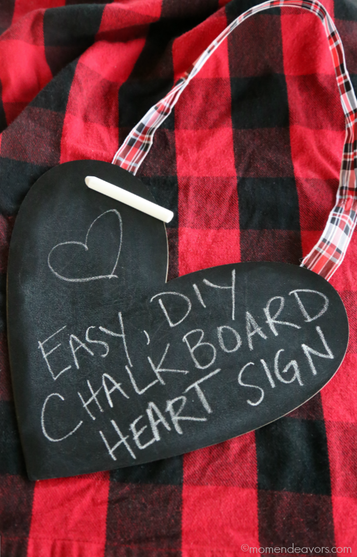 DIY Chalkboard Heart Sign