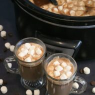 Homemade Slow Cooker Hot Chocolate