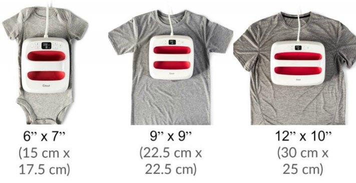 Cricut EasyPress 2 Sizes