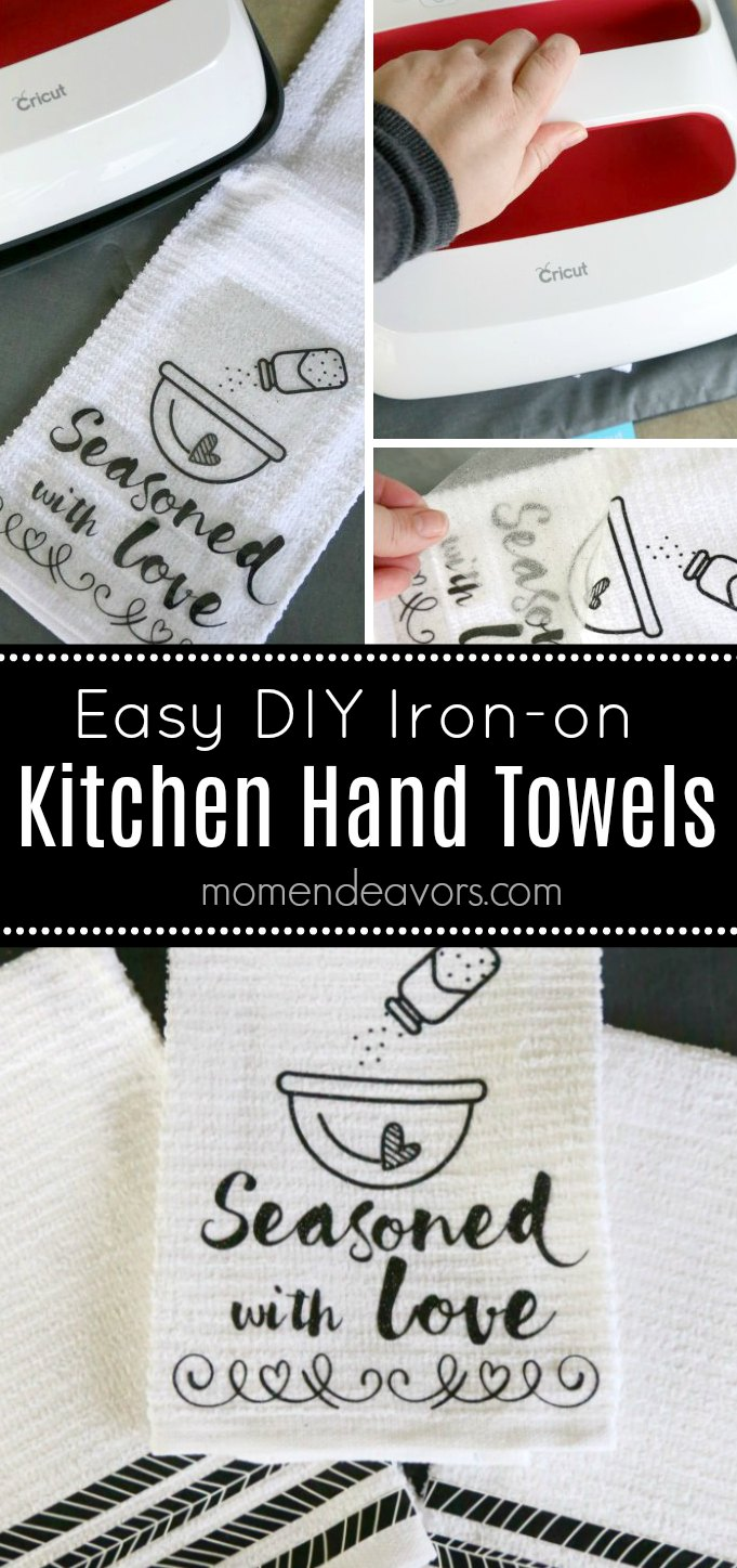 DIY Iron-On Kitchen Hand Towels