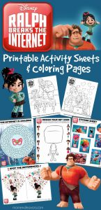 Disney Ralph Breaks The Internet Activities & Coloring Pages