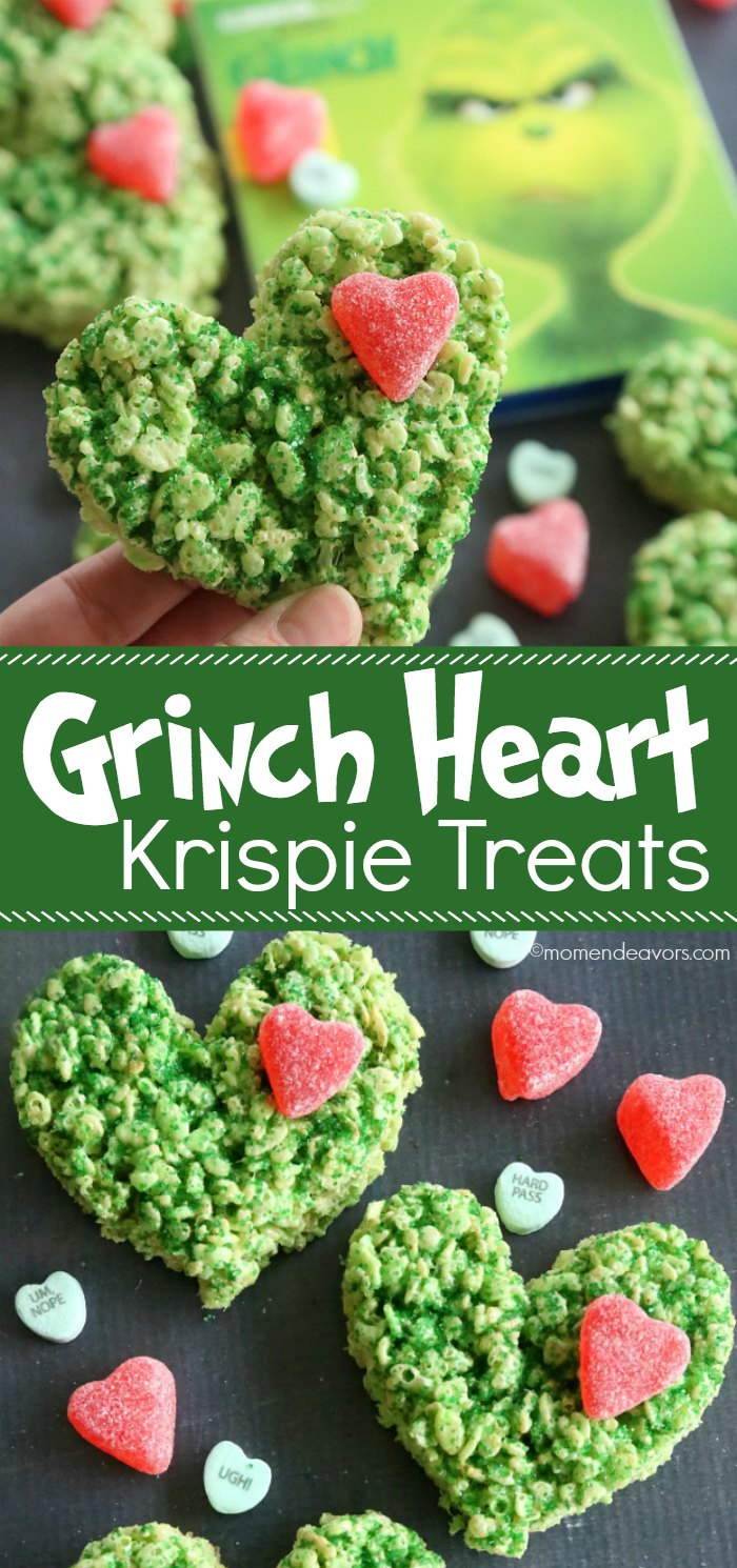 Grinch Heart Rice Krispie Treats Recipe