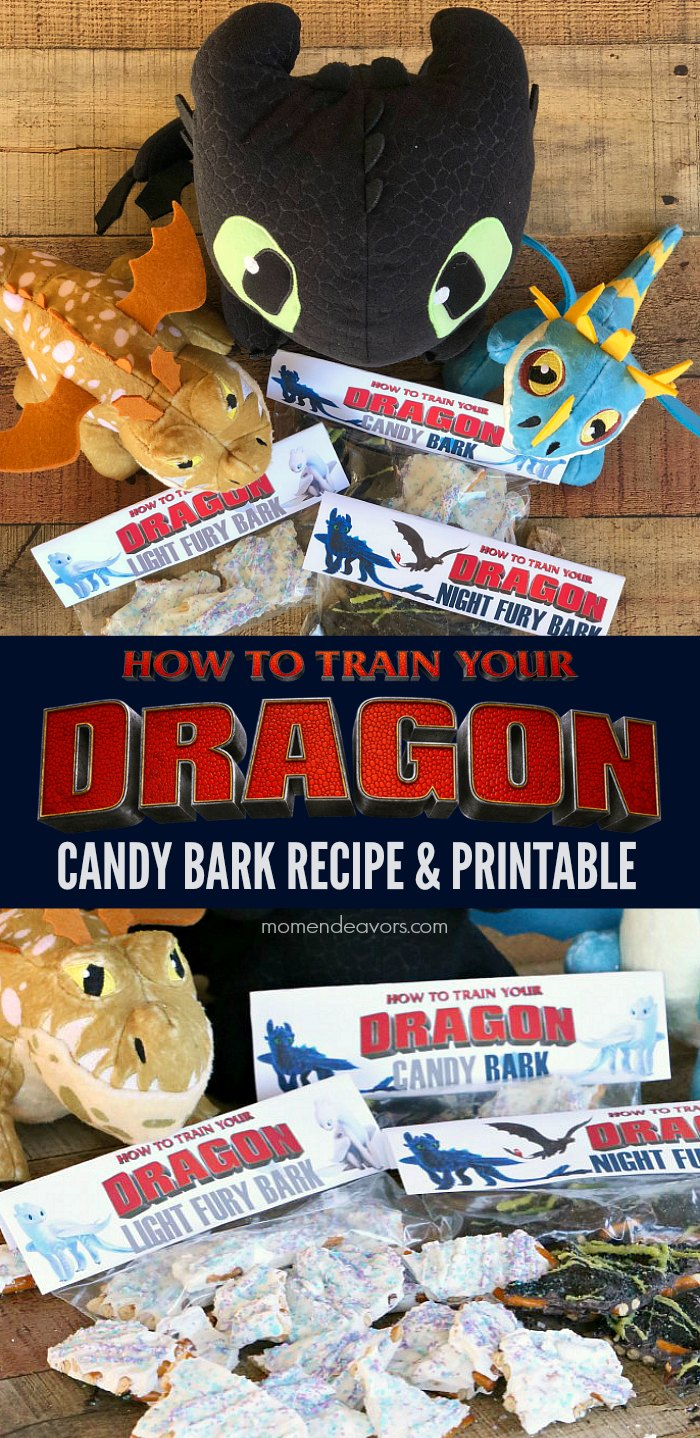 How To Train Your Dragon Candy Bark Recipe & Printable