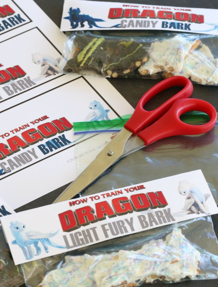 How to Train Your Dragon Treat Bag Toppers