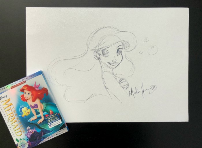 Mark Henn Ariel Drawing