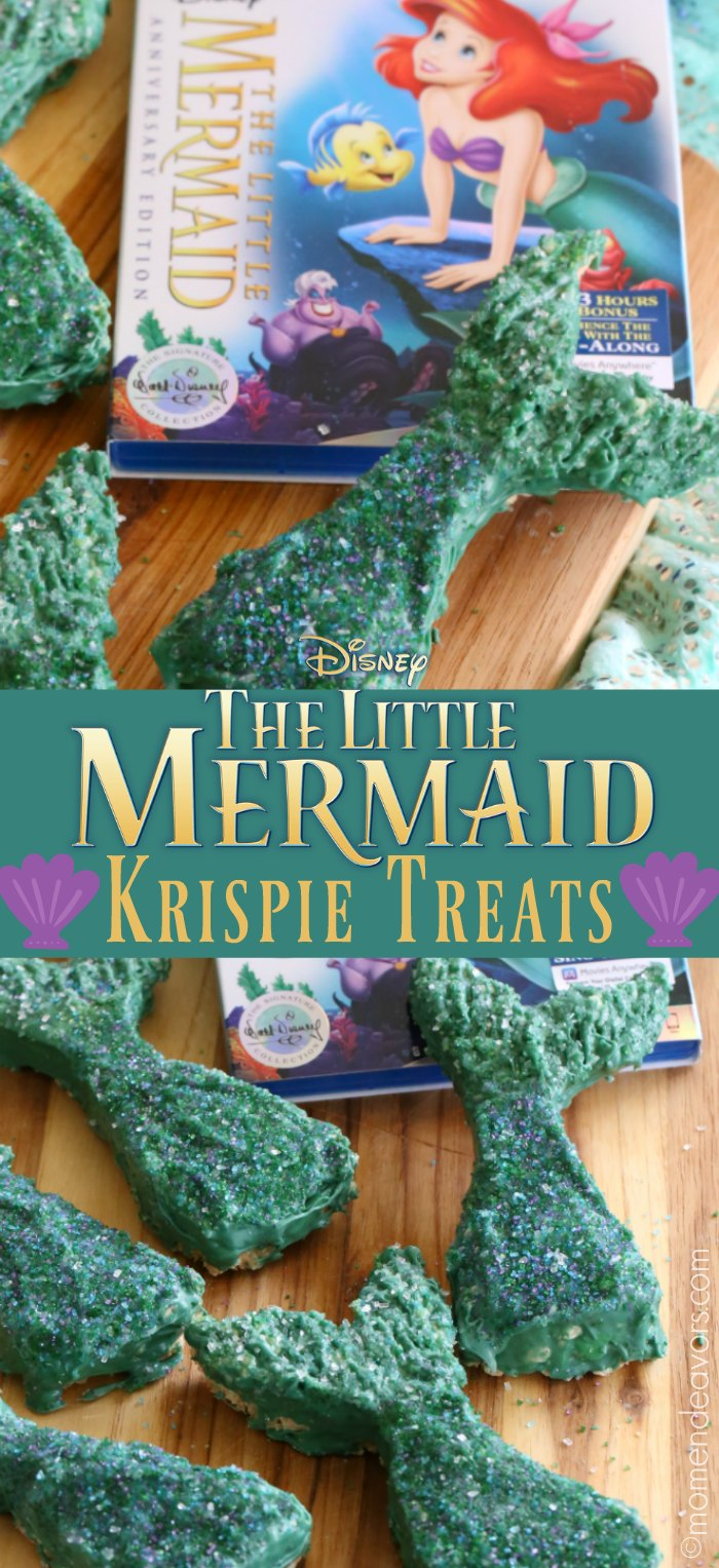The Little Mermaid Tail Krispie Treats
