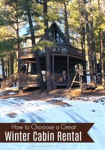 Winter Cabin Rental