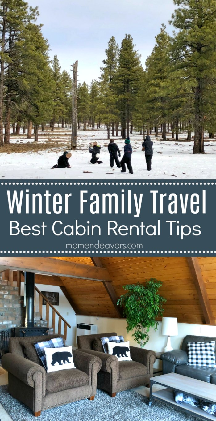 Winter Family Travel Cabin Rentals