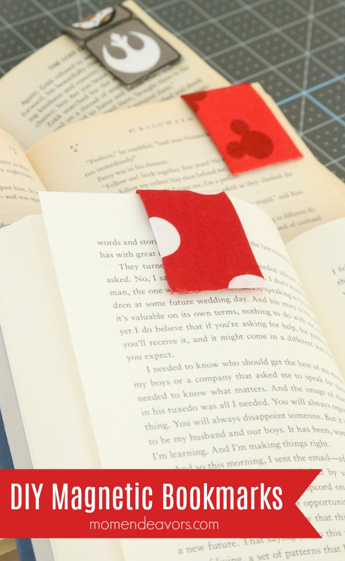DIY Magnetic Bookmarks