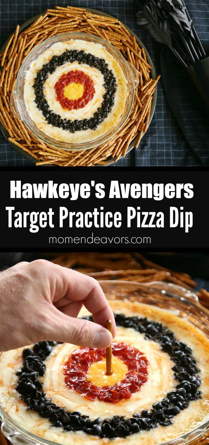 Hawkeye's Avengers Target Practice Pizza Dip