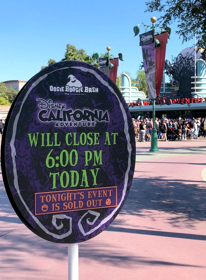 Oogie Boogie Bash Sign