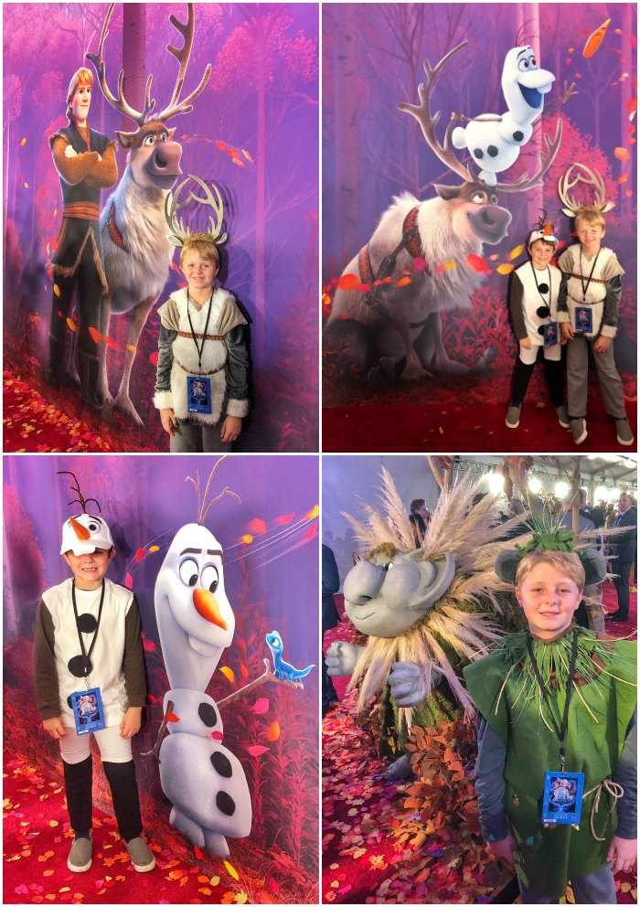 Frozen 2 Premiere Character Costume Photos